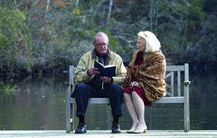 """Film Title: The Notebook. James Garner (left) stars as """"Duke"""" and Gena Rowland (right) stars as """"Allie"""" in New Line Cinema's epic story of love lost and found, THE NOTEBOOK. Photo: 2004 Melissa Moseley/New Line Productions."""
